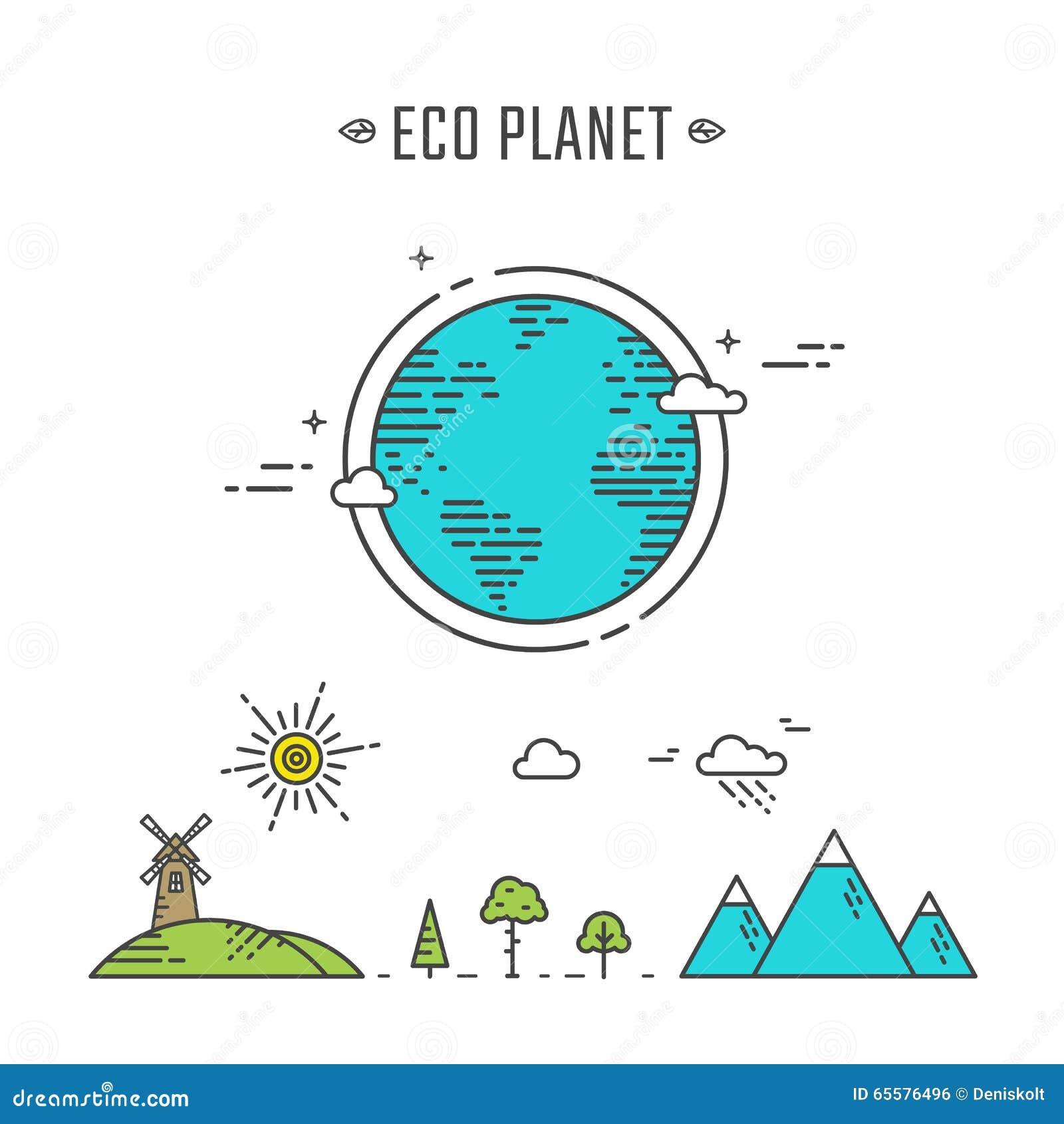 Ilustração do planeta de Eco