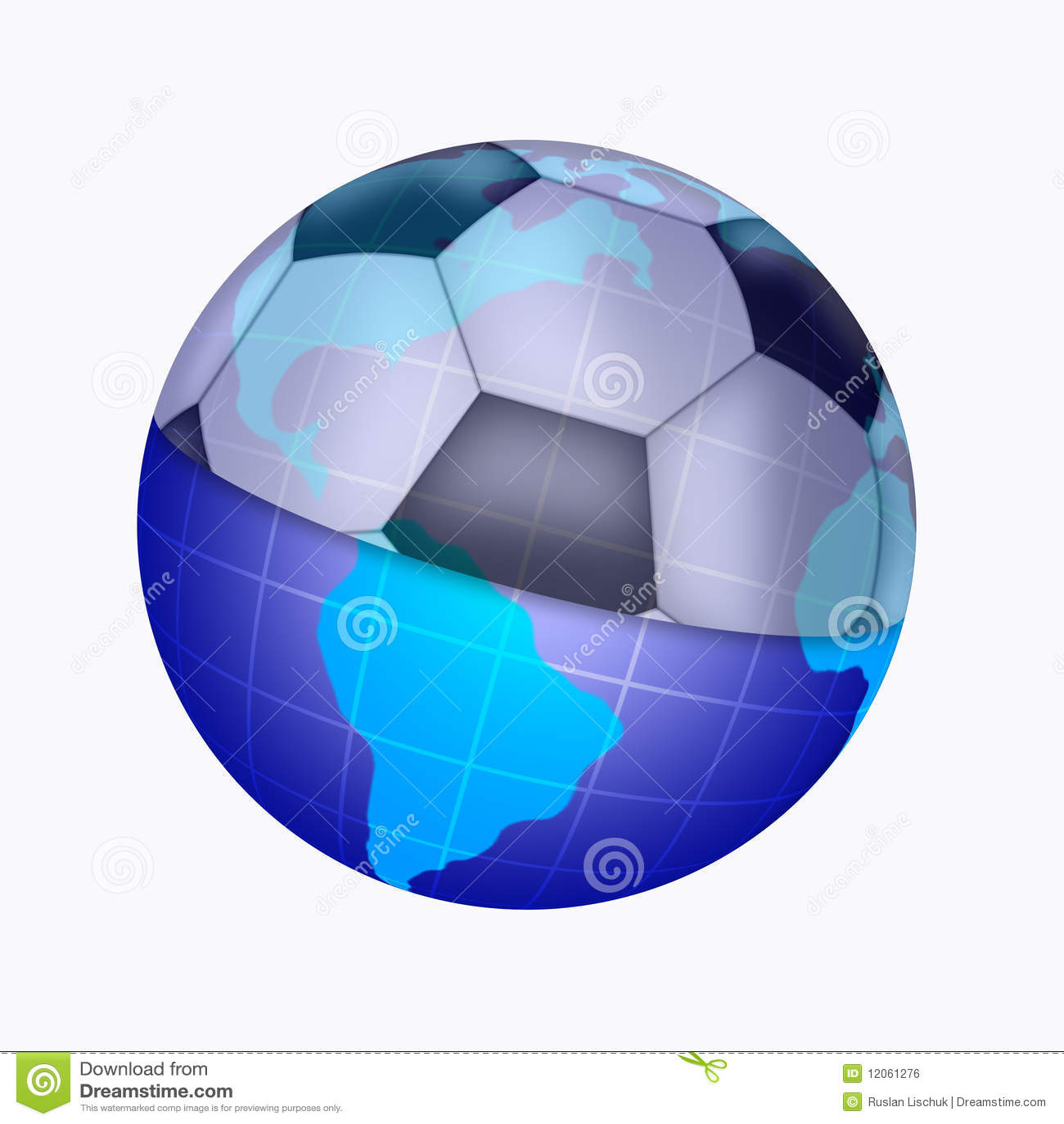 Ilustração do planeta e da esfera