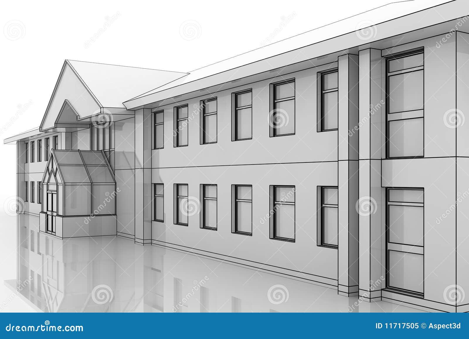 Ilustração do prédio de escritórios