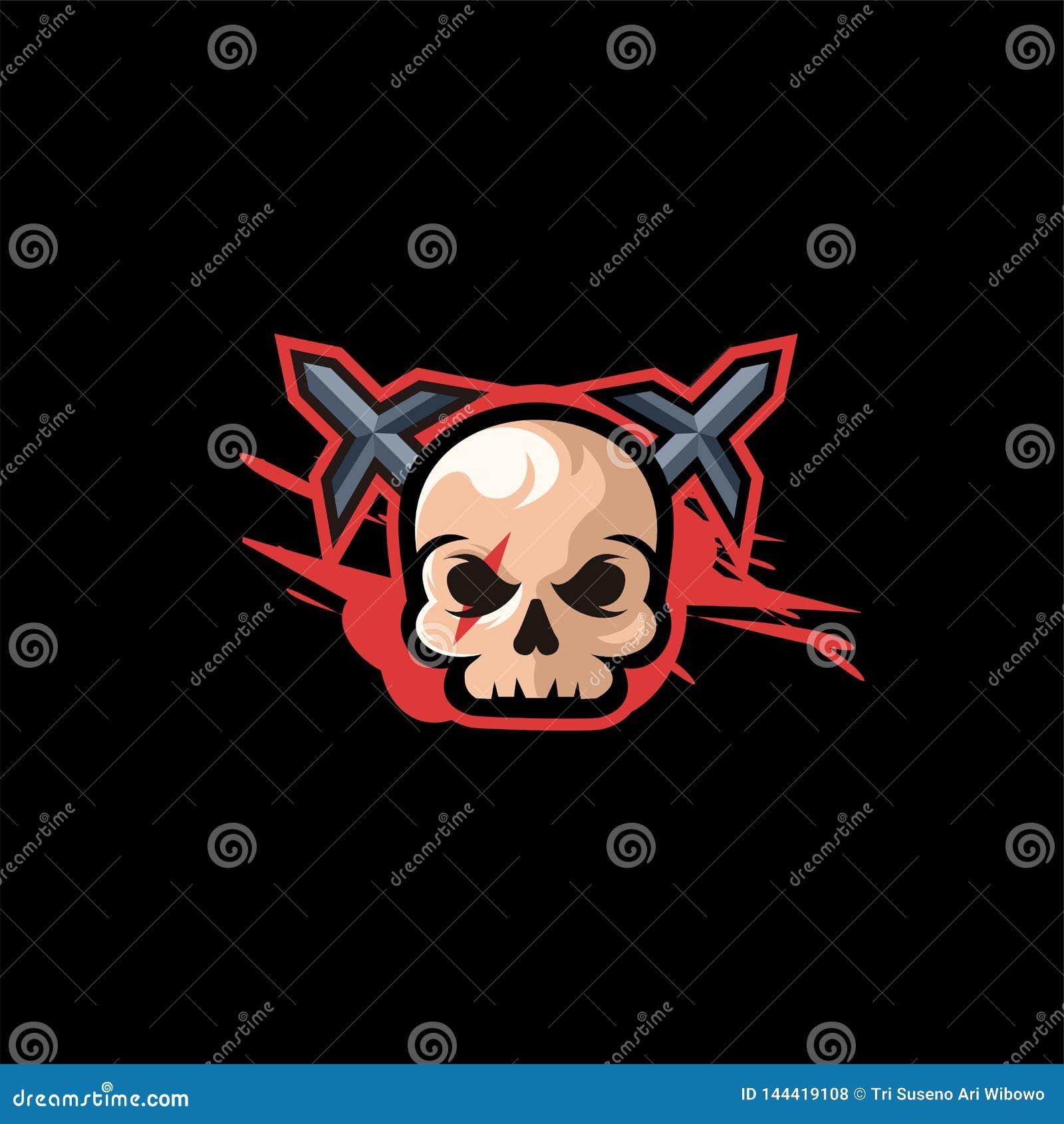 Ilustração do projeto do logotipo do crânio