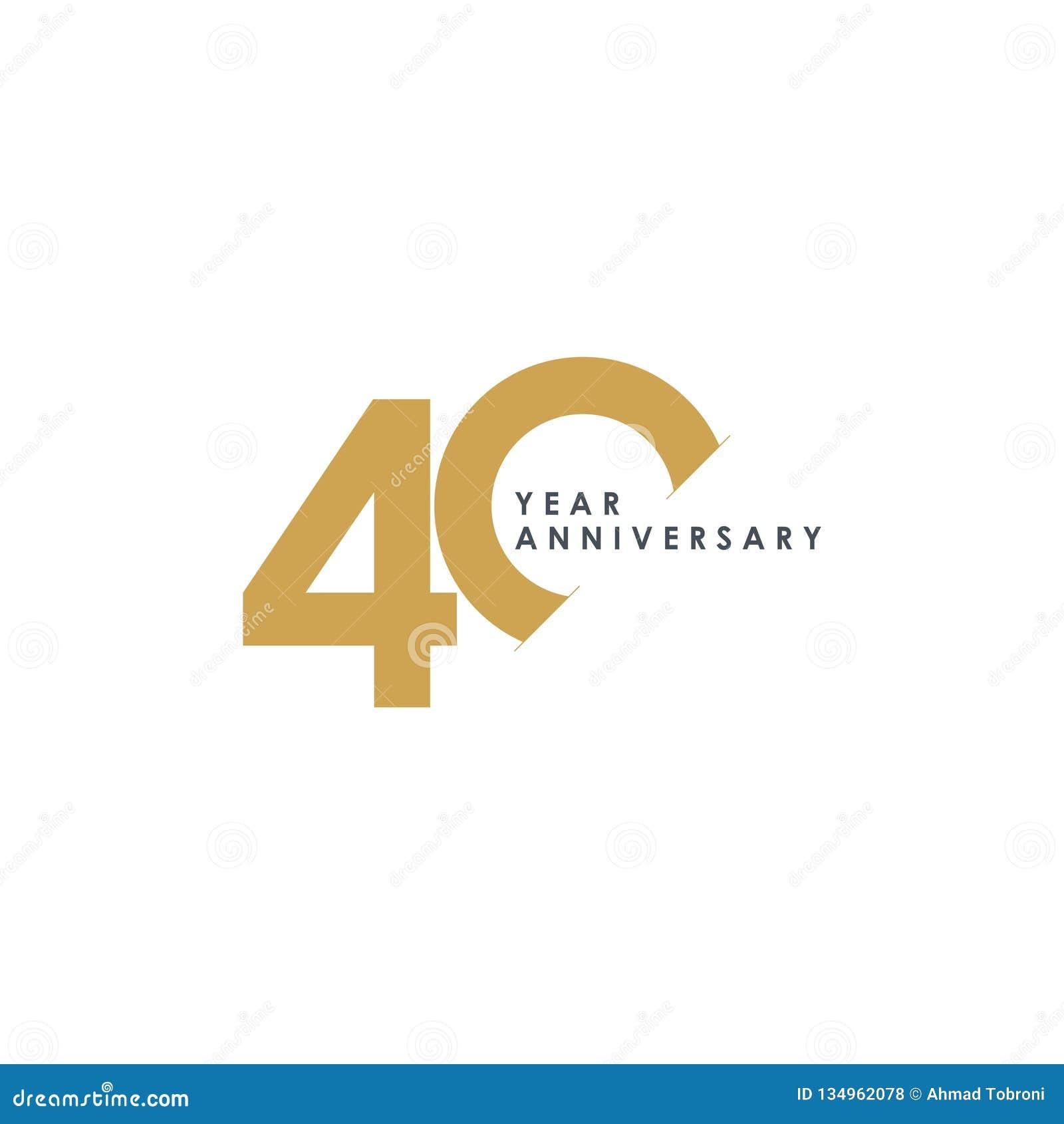 Ilustração do projeto do vetor de um aniversário de 40 anos