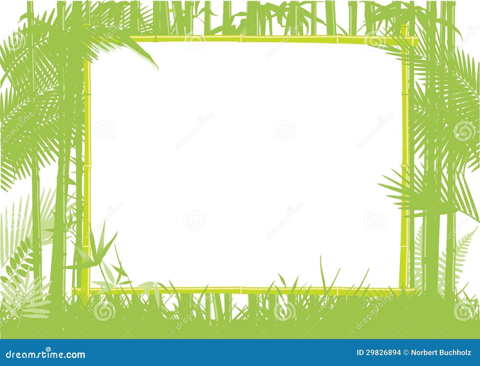 Quadro de bambu da selva