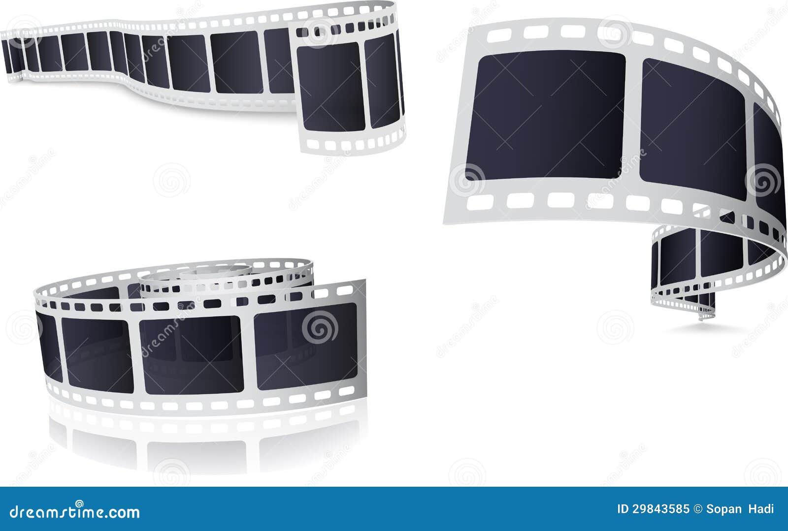 Grupo do rolo de filme da câmera