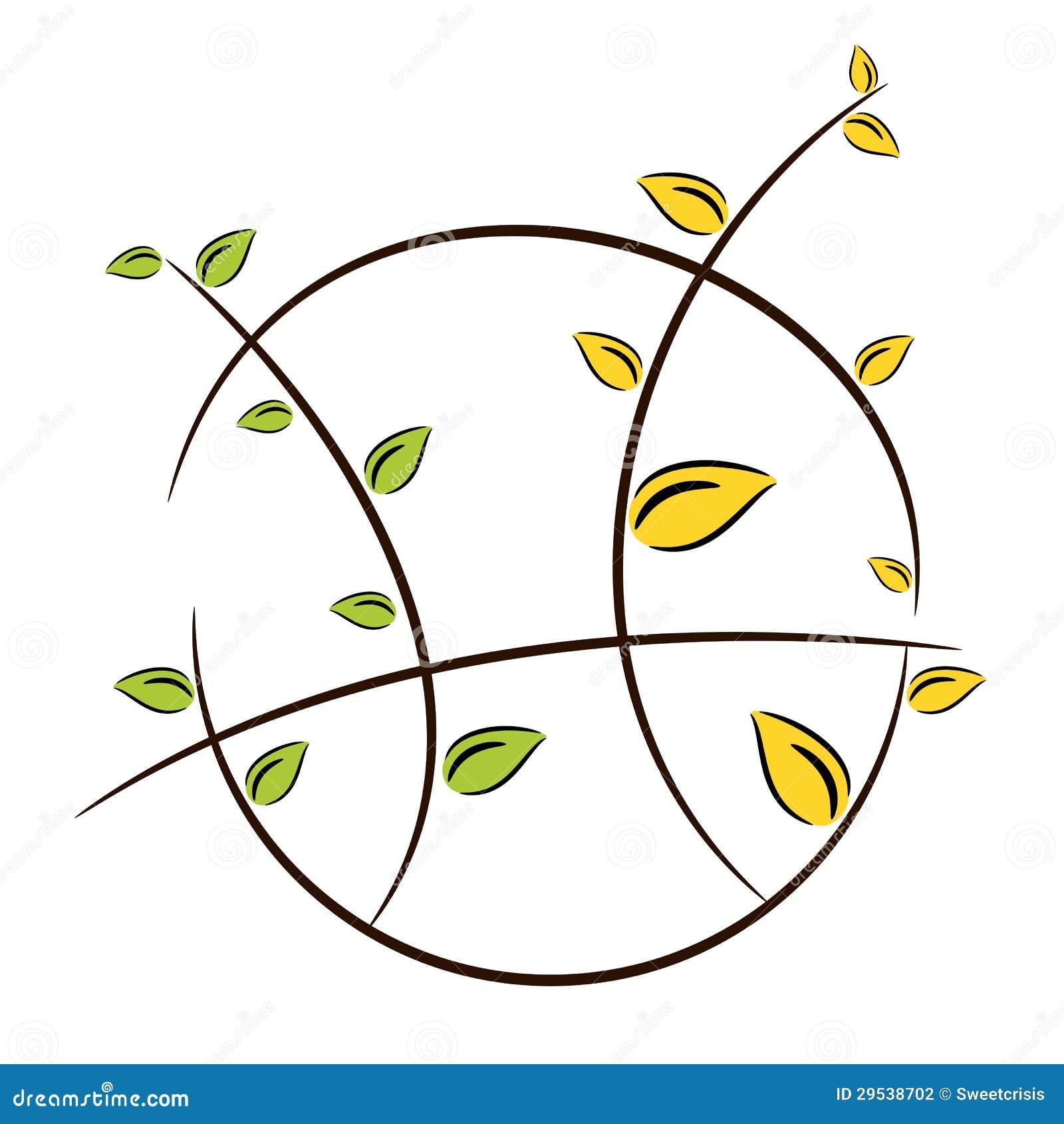 Ilustração do símbolo da árvore da natureza