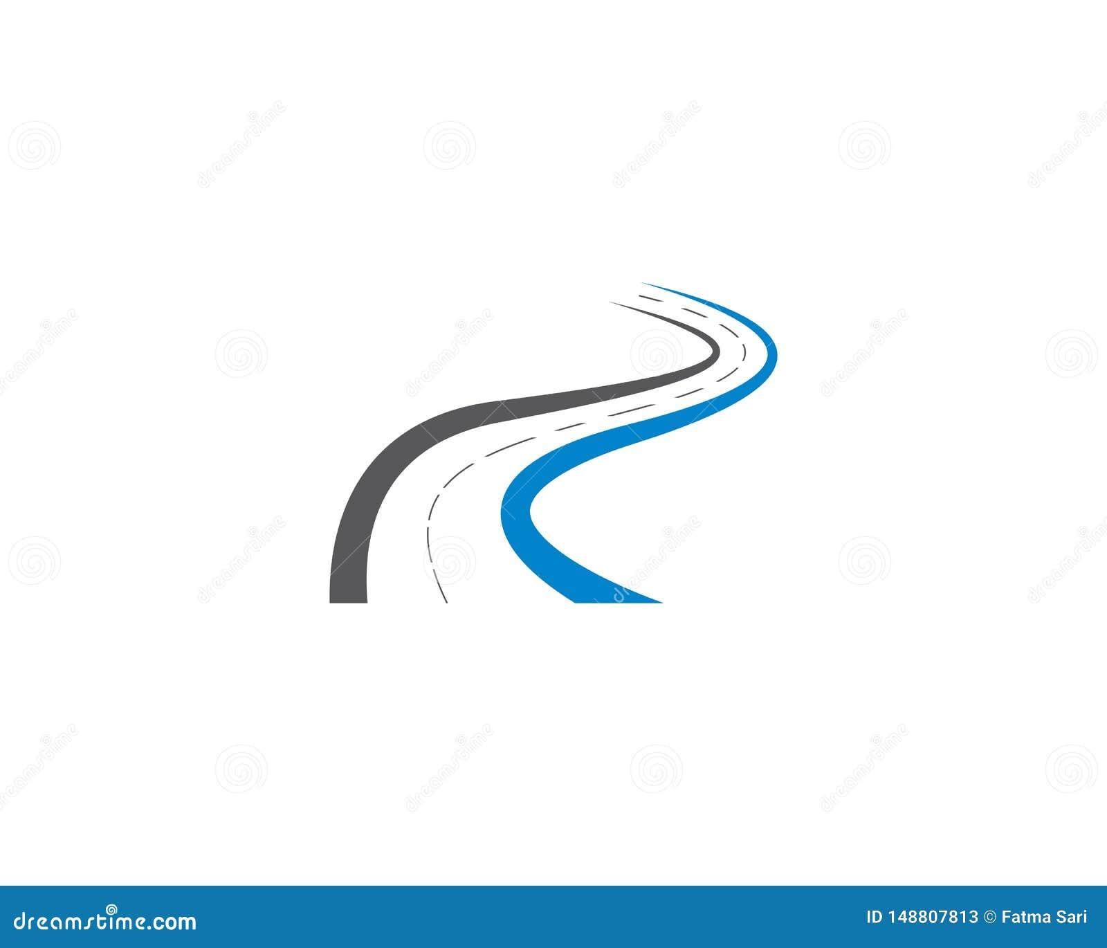 Ilustração do símbolo da estrada