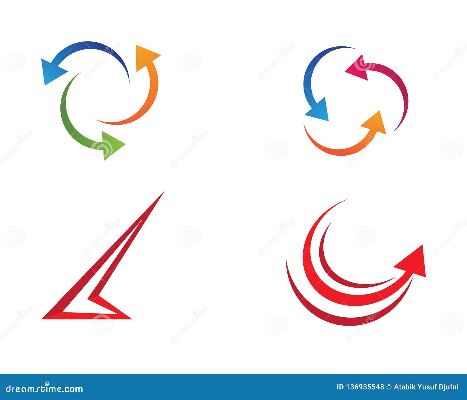 Ilustração do símbolo da seta