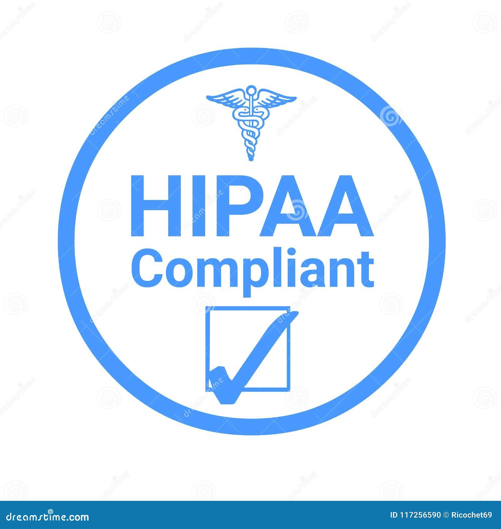 Ilustração do sinal da conformidade de Hipaa