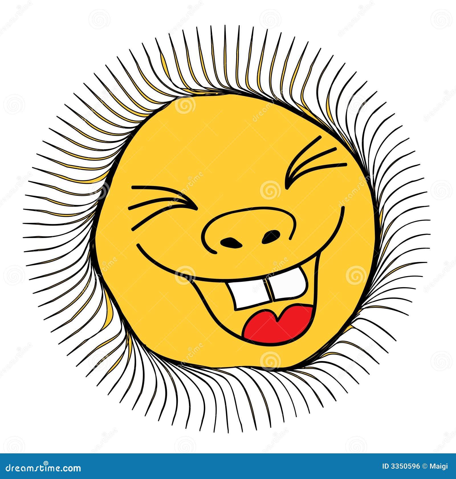 Ilustração do sol de sorriso