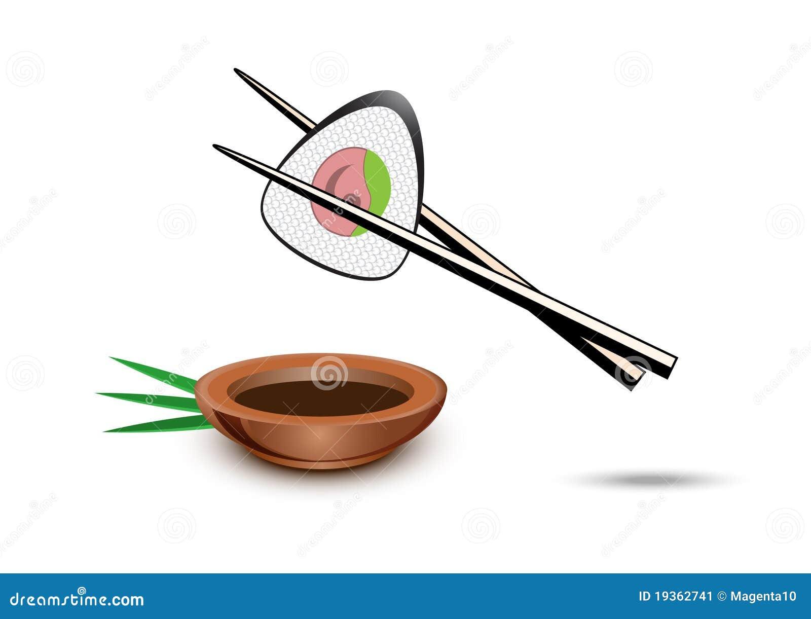 Ilustração do sushi do vetor