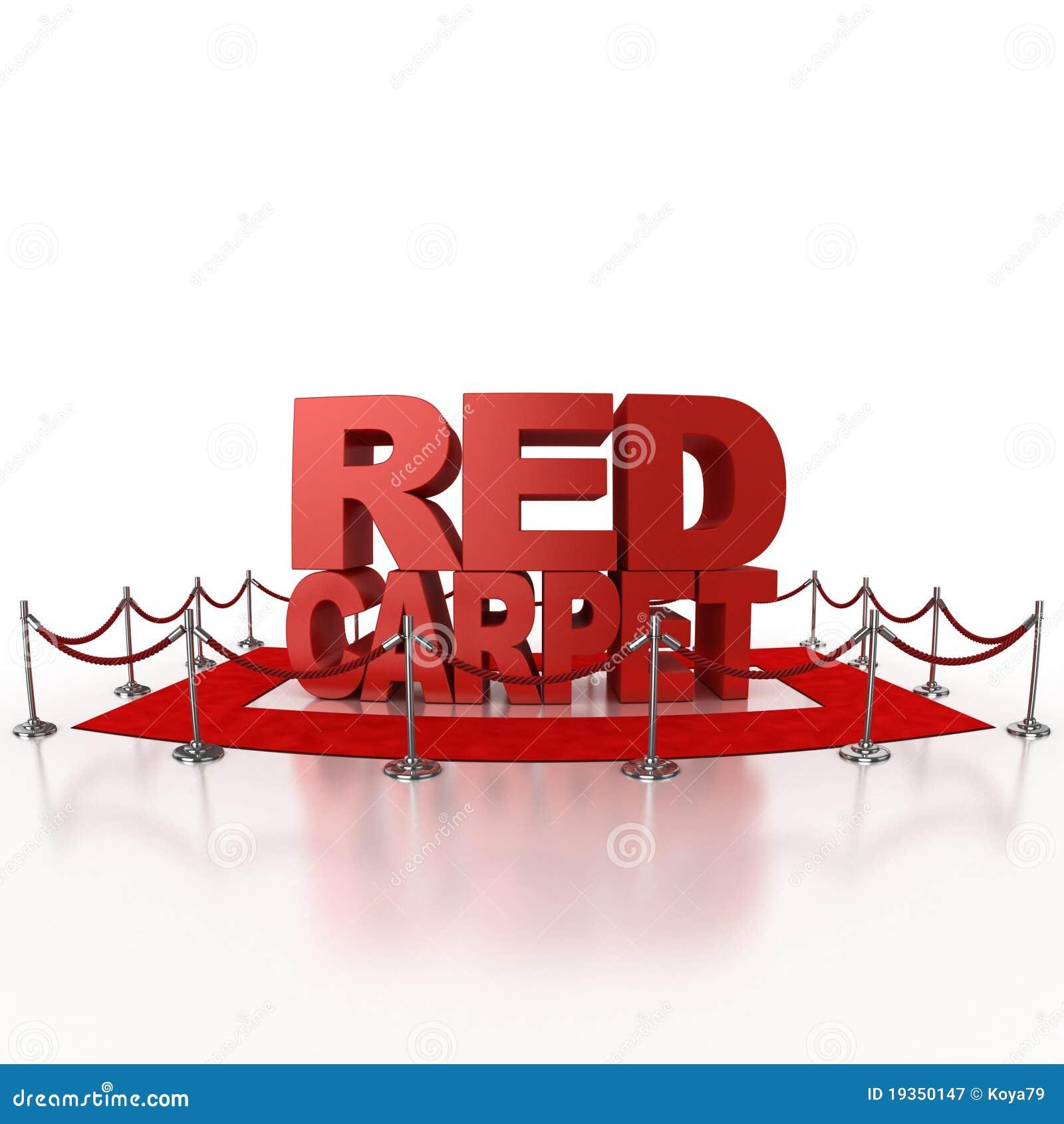 Ilustração do tapete vermelho 3d