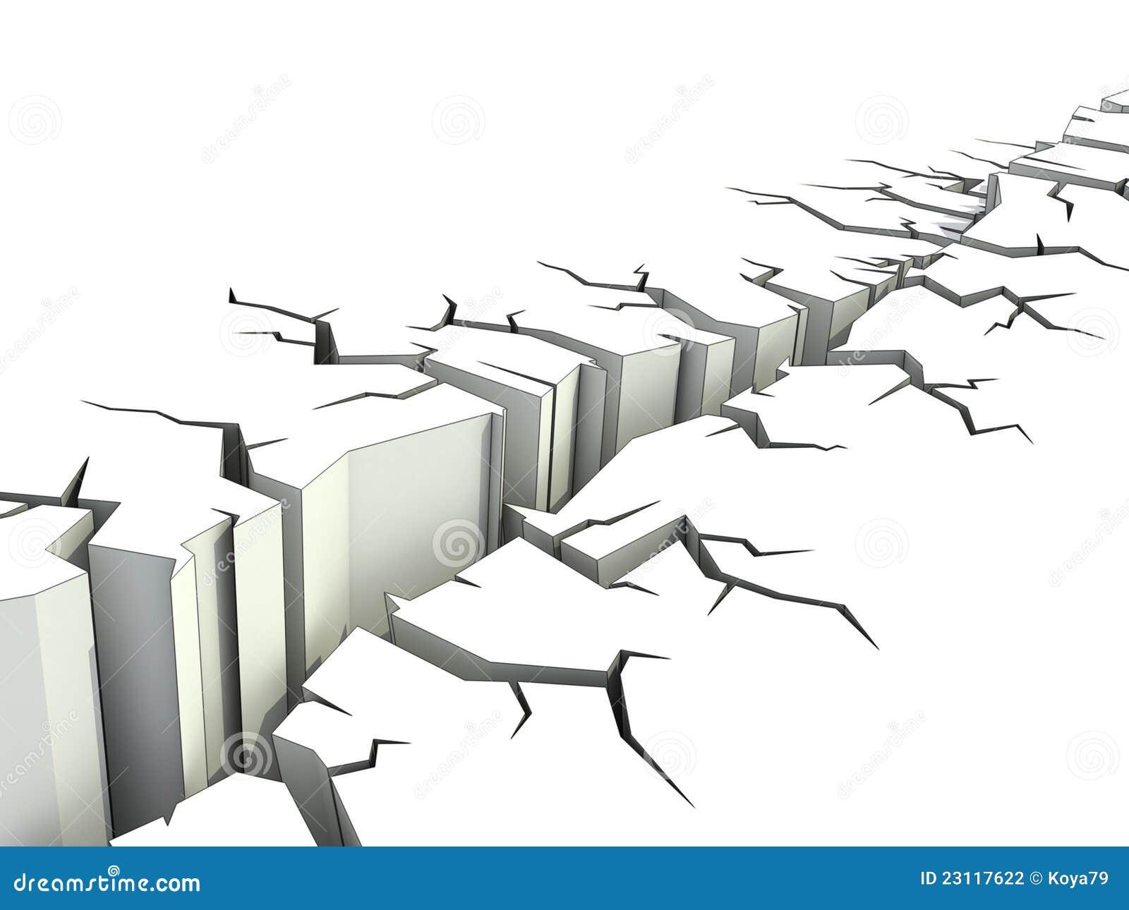 Ilustração do terremoto 3d