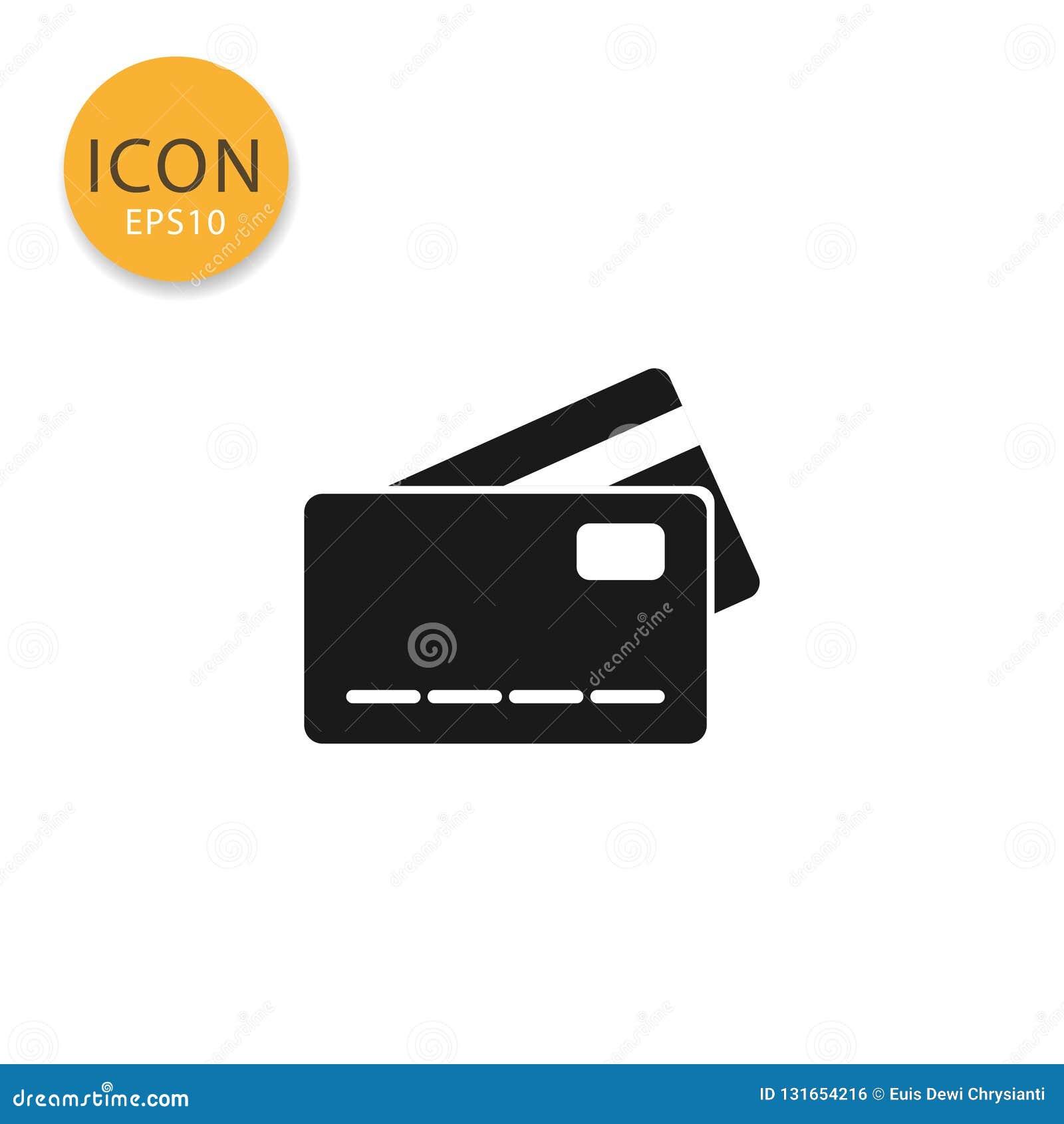 Ilustração do vetor do ícone do cartão de crédito