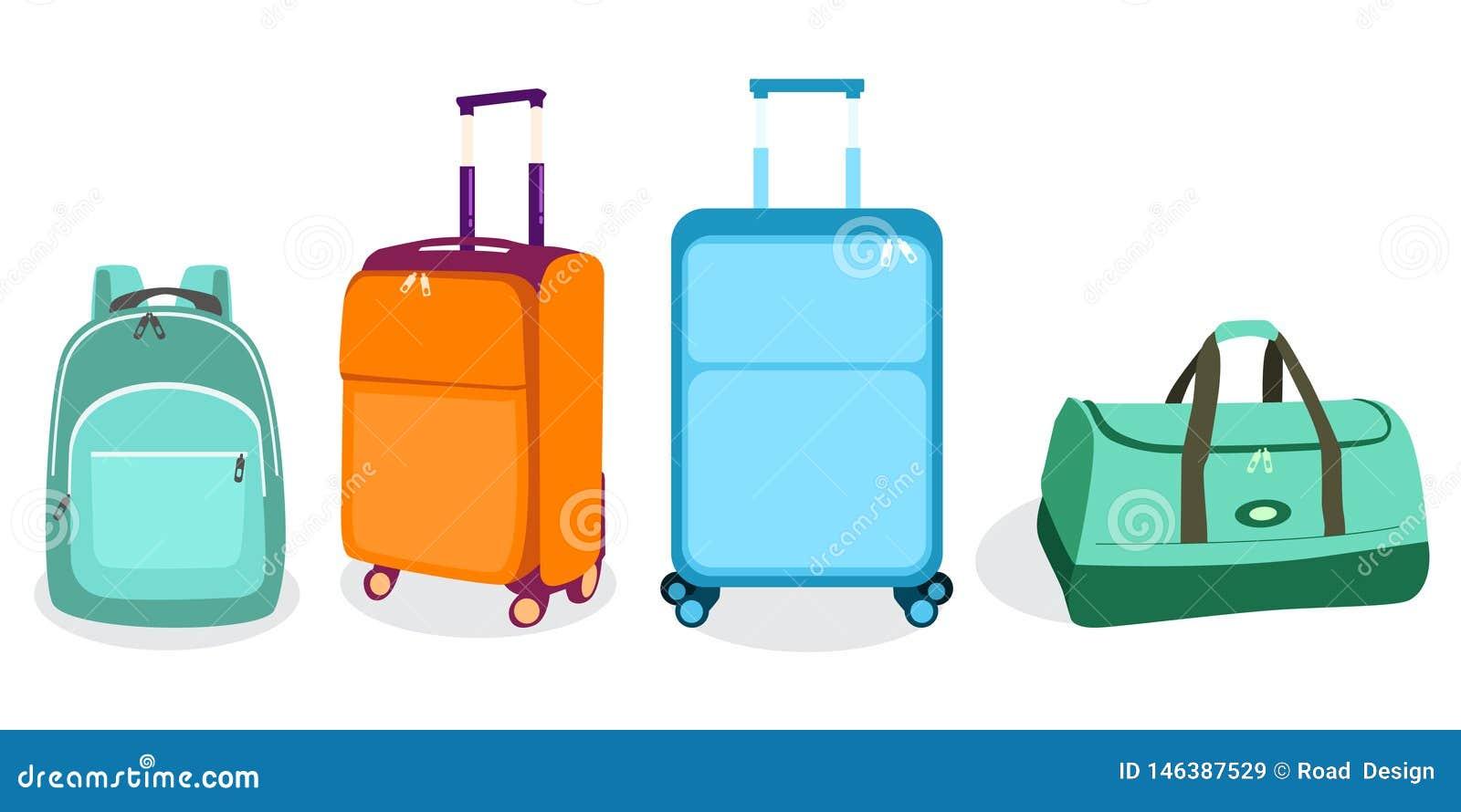 Ilustração do vetor do ícone das malas de viagem dos sacos do curso