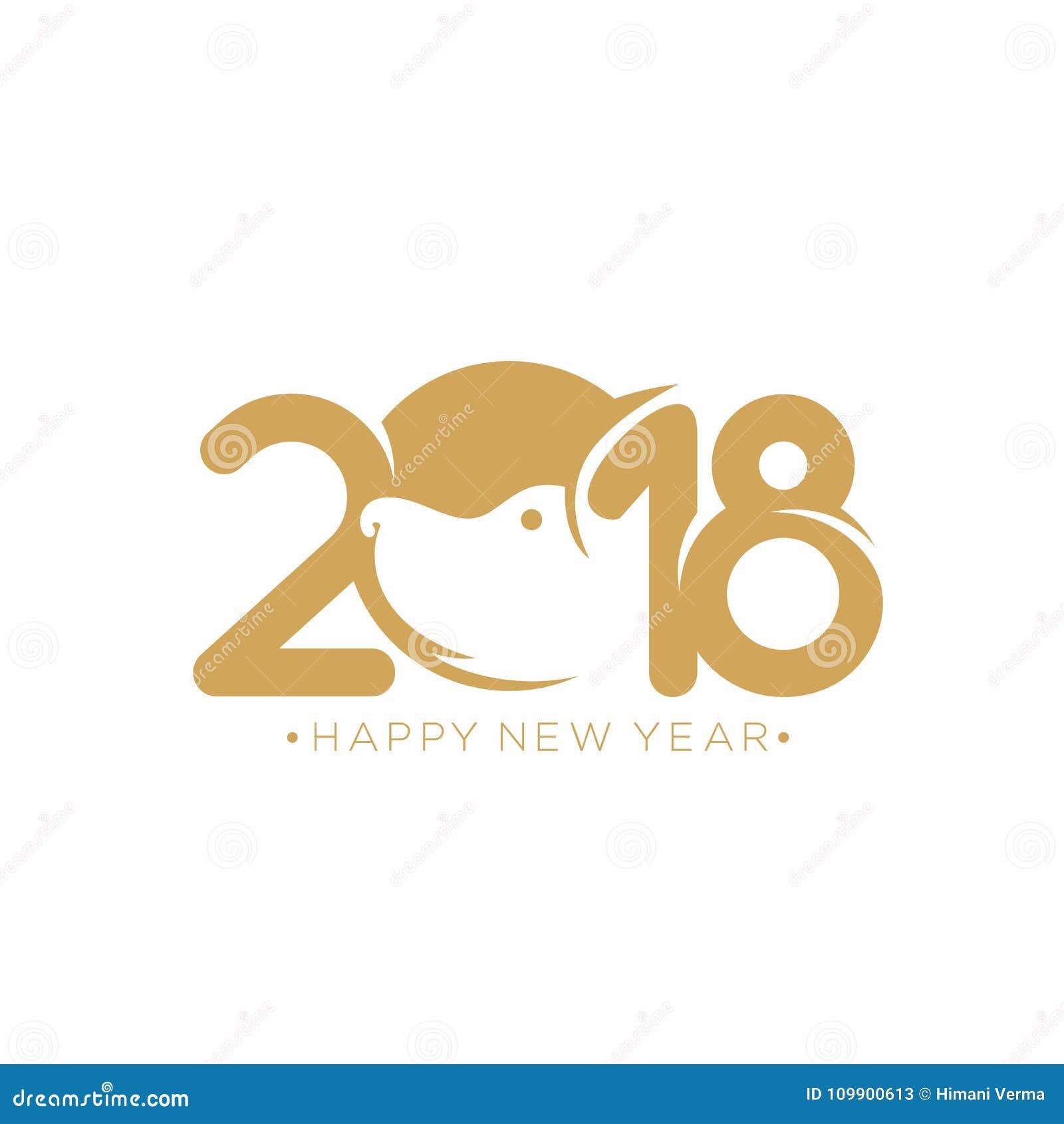 Ilustração do vetor do ano novo feliz 2018