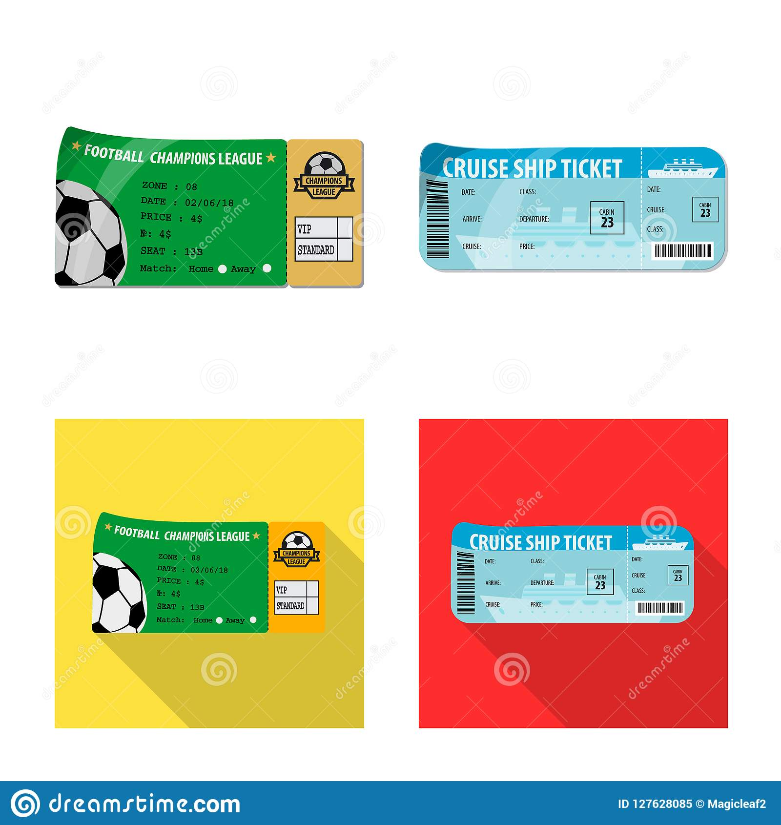 Ilustração do vetor do bilhete e do ícone da admissão Coleção do bilhete e do símbolo de ações do evento para a Web