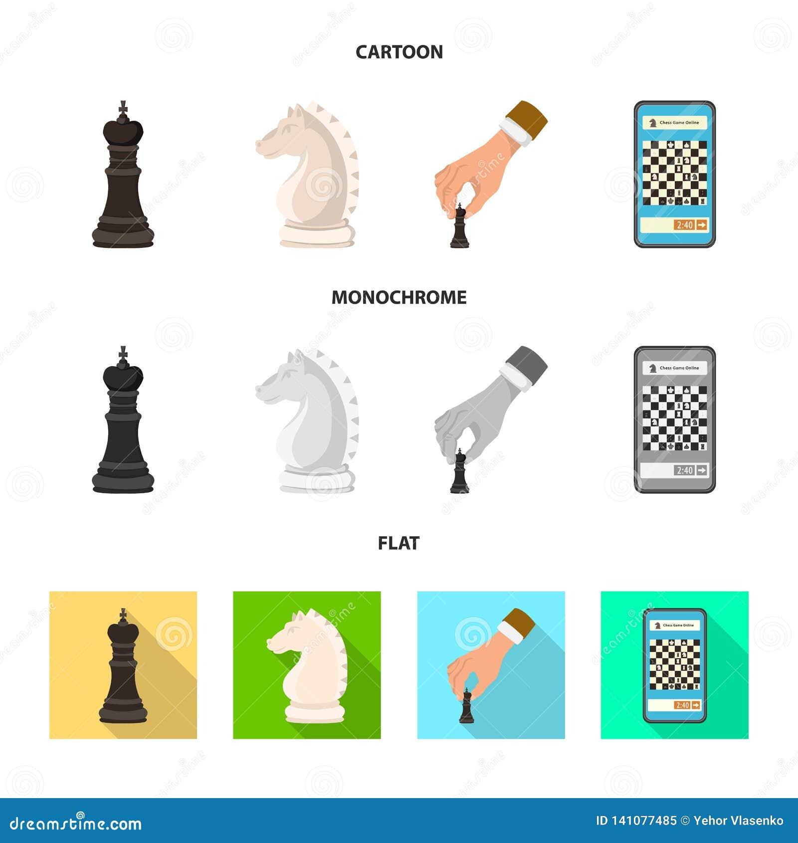 Ilustração do vetor do checkmate e do símbolo fino Coleção da ilustração do vetor do estoque do checkmate e do alvo