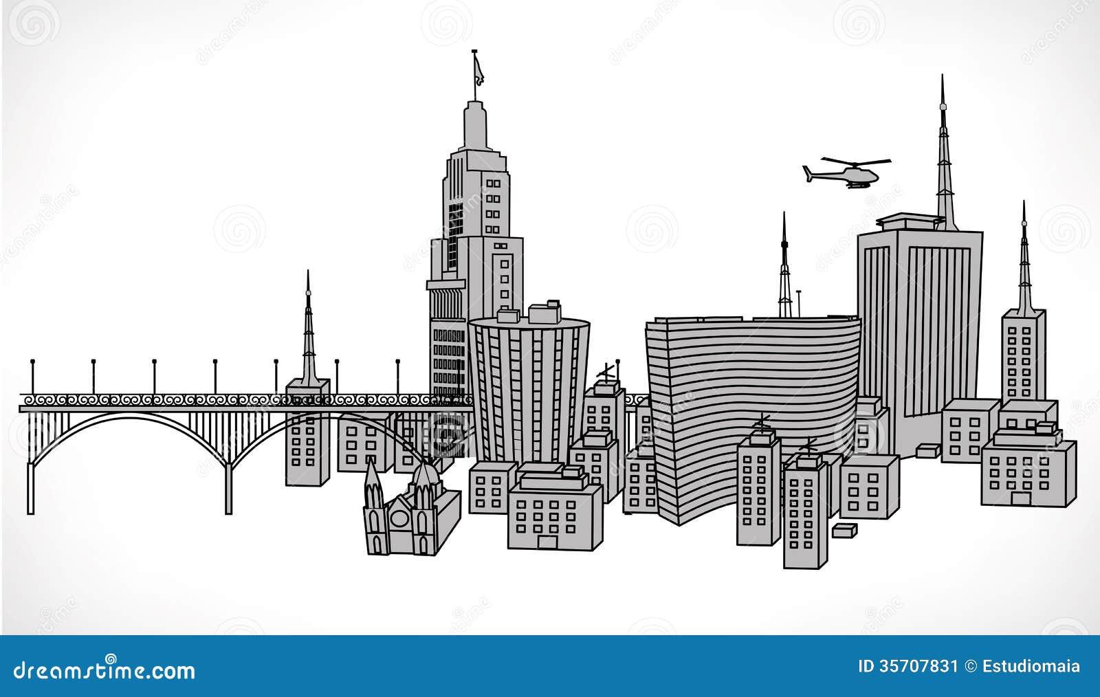 Ilustra o do vetor da constru o de sao paulo ilustra o for Da architecture