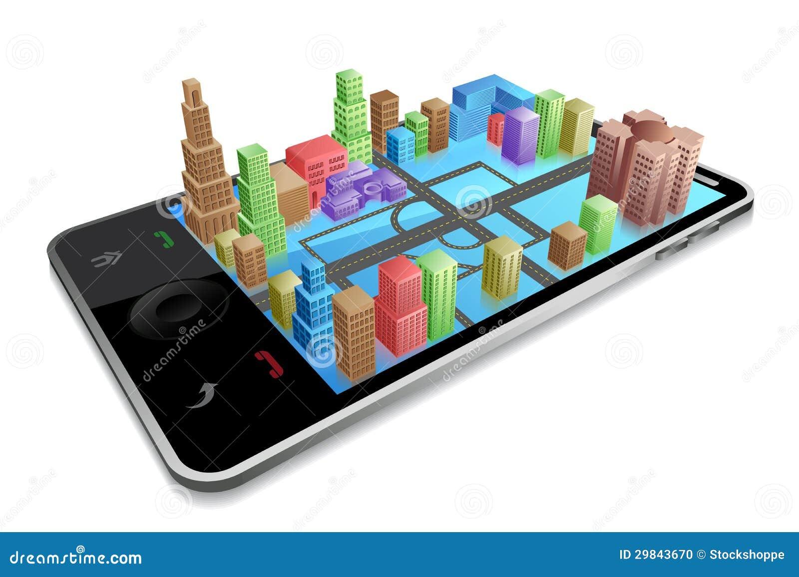 Negócio através do móbil