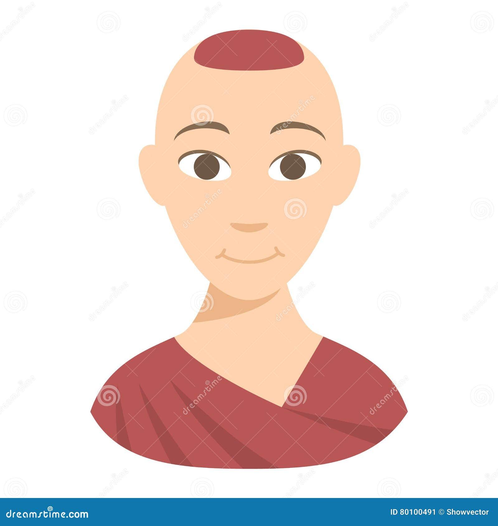 Ilustração do vetor da monge budista