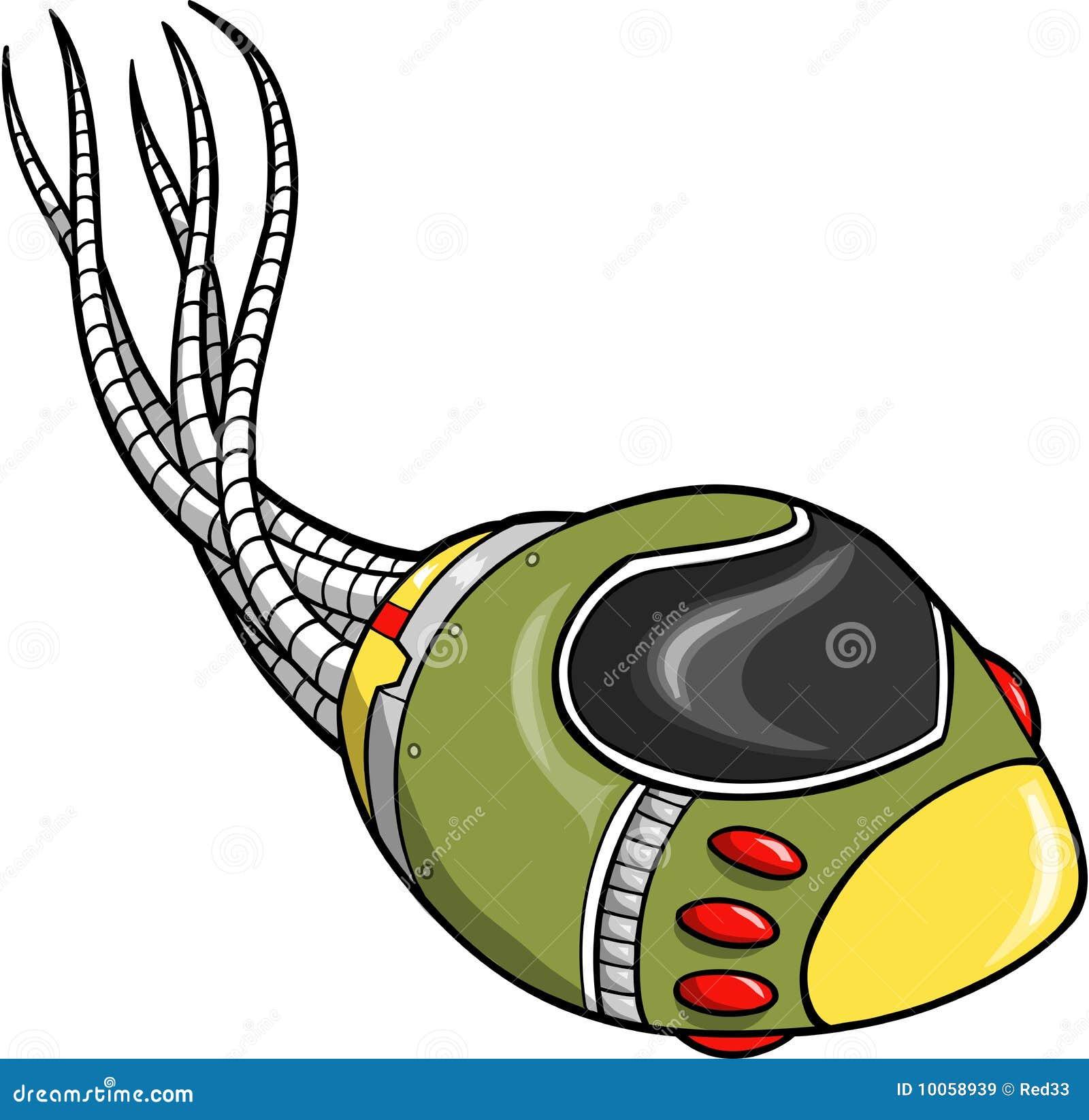 Ilustração do vetor da nave espacial