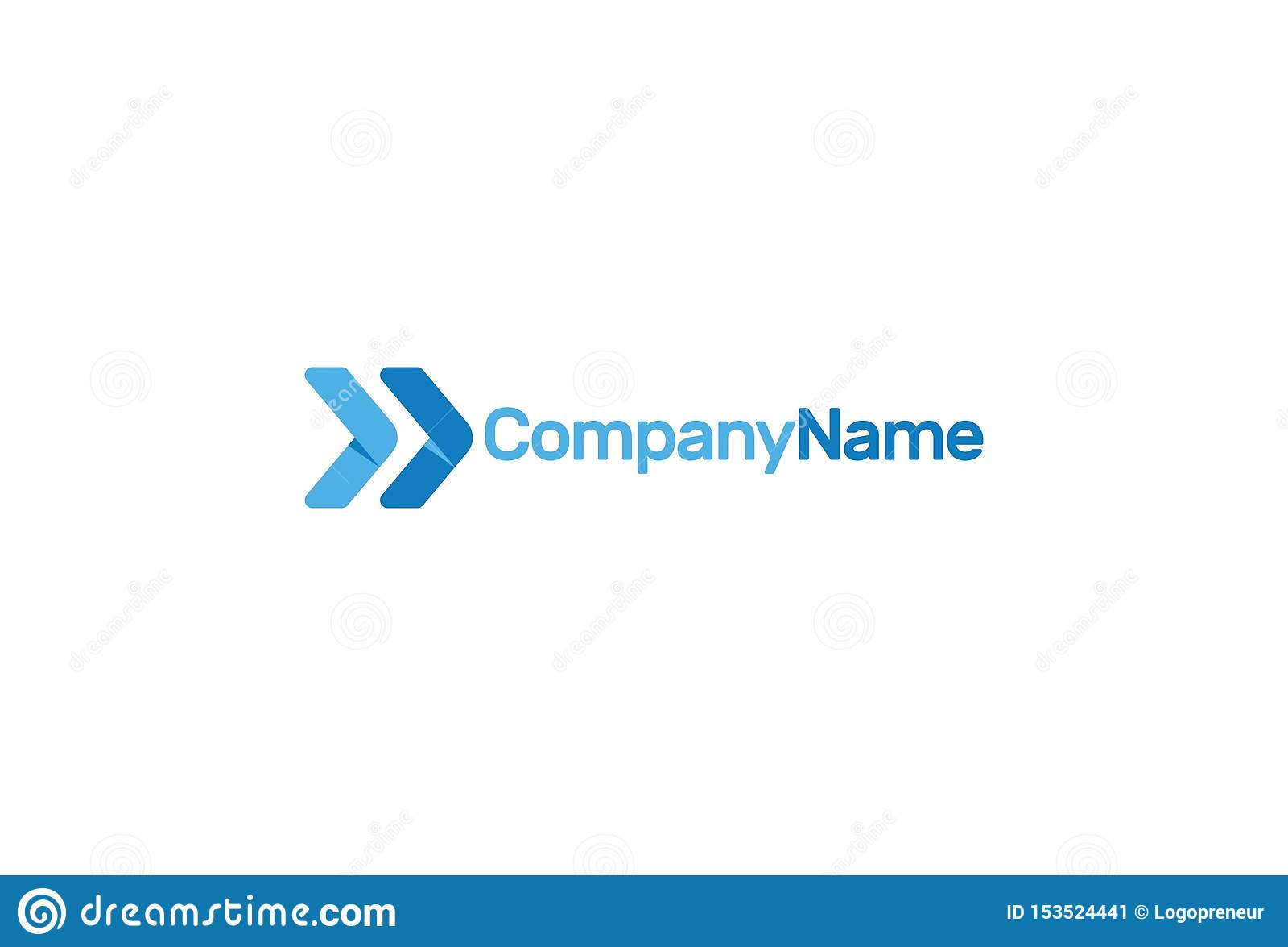 Ilustração do vetor da seta azul Logo Design