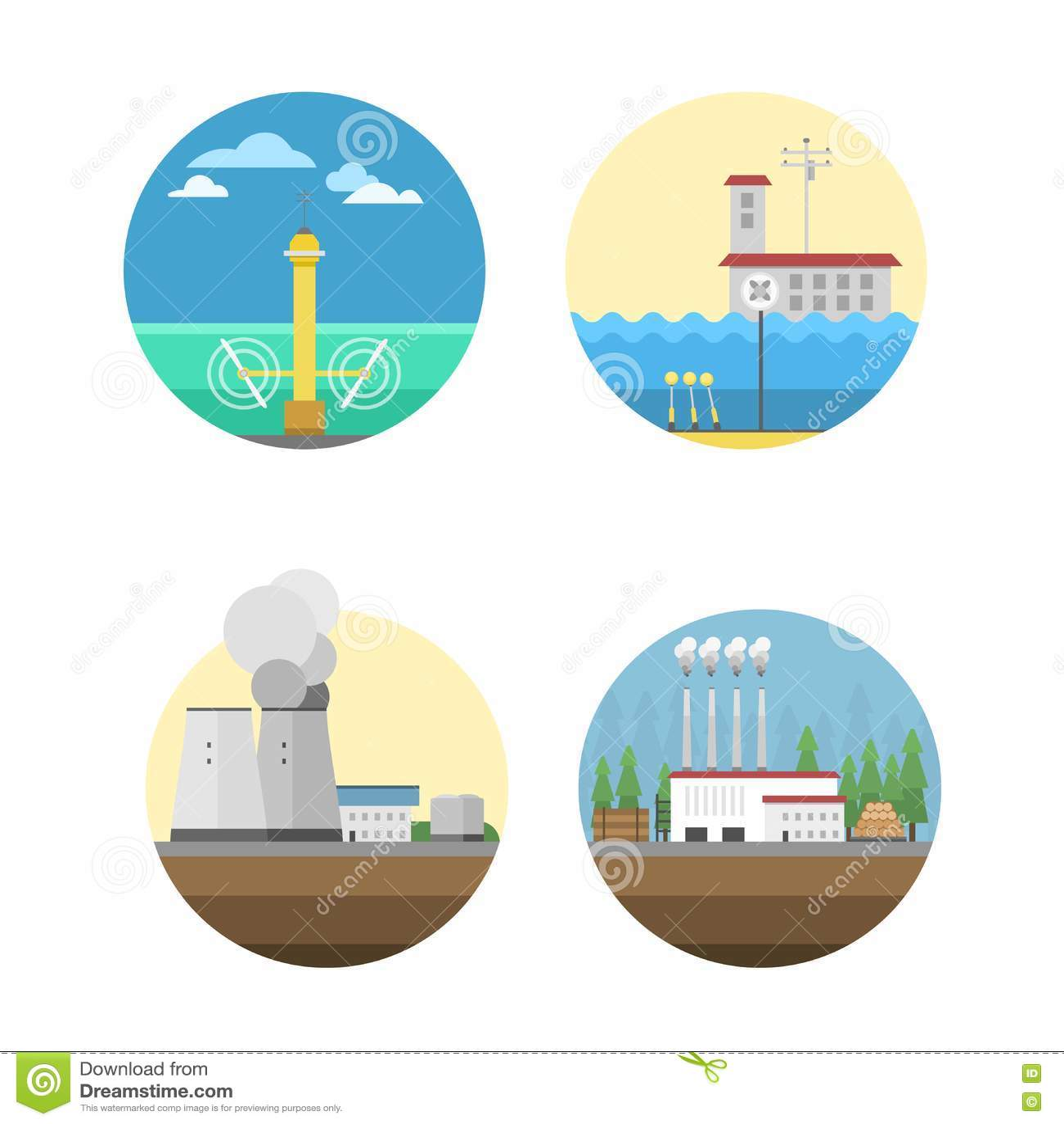 Ilustração do vetor das fontes de energia