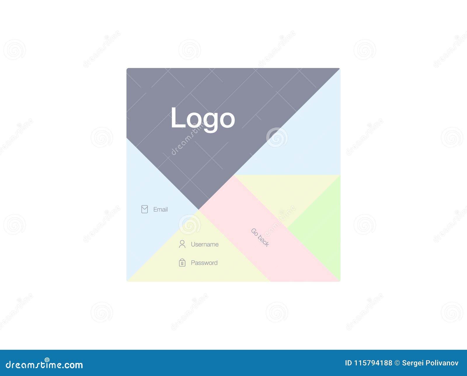 Ilustração do vetor das telas e do conceito da Web