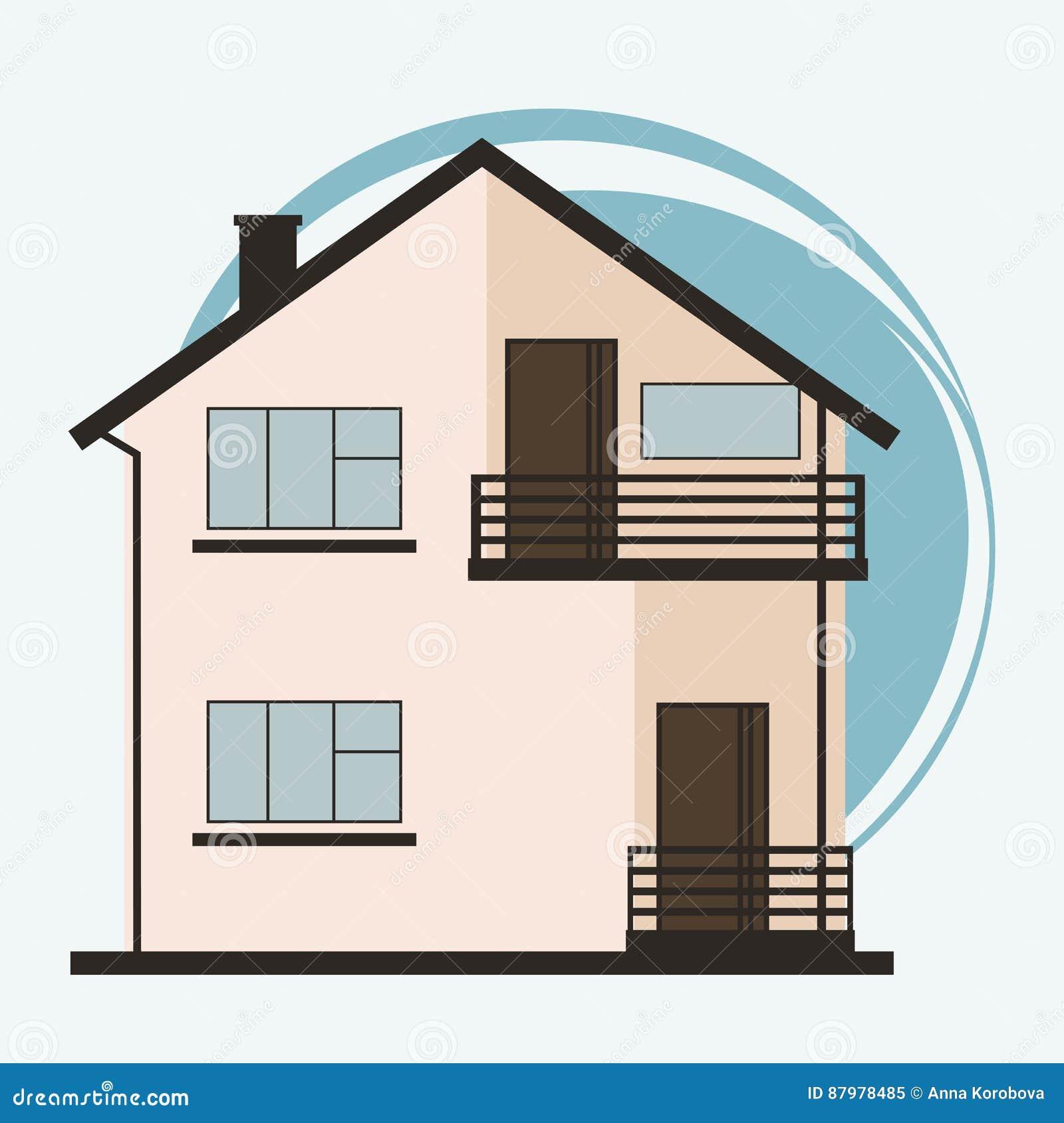 ilustração do vetor de casas coloridas dos desenhos animados bonitos