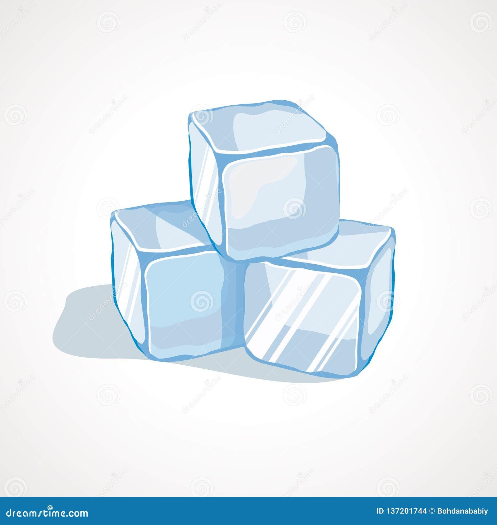Ilustracao Do Vetor De Cubos De Gelo Azuis Dos Desenhos Animados