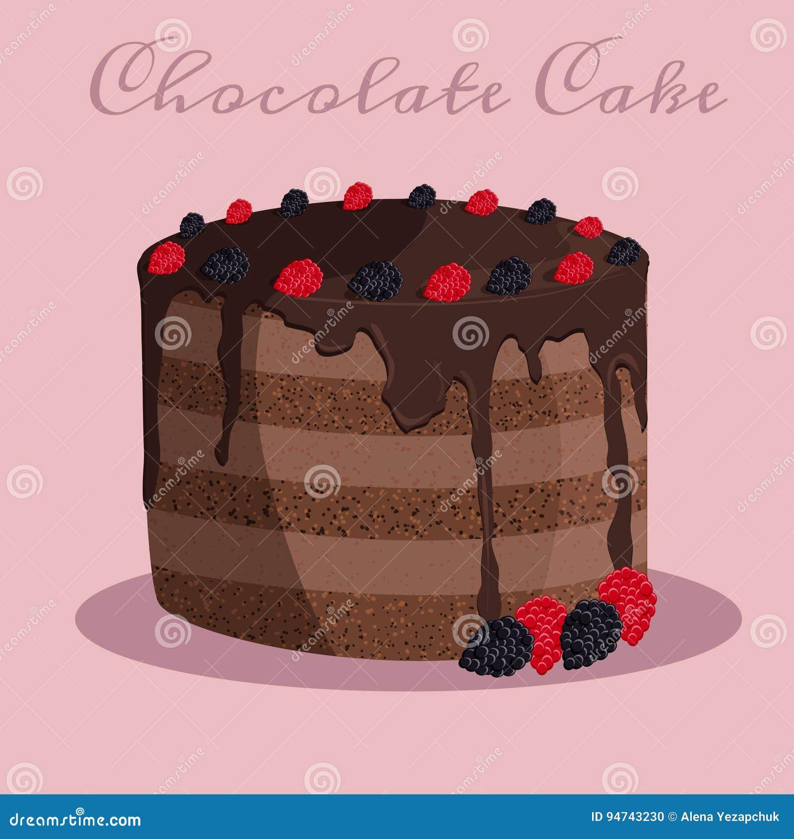 Ilustração do vetor do bolo de chocolate