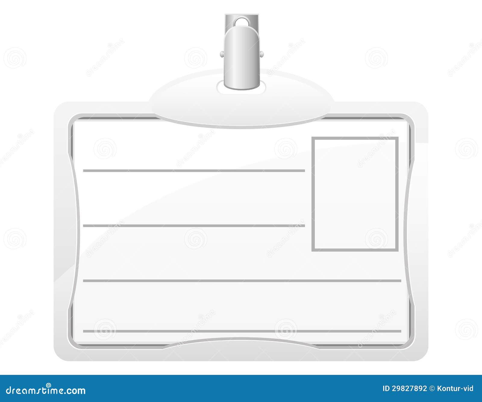 Ilustração do vetor do cartão de identidade