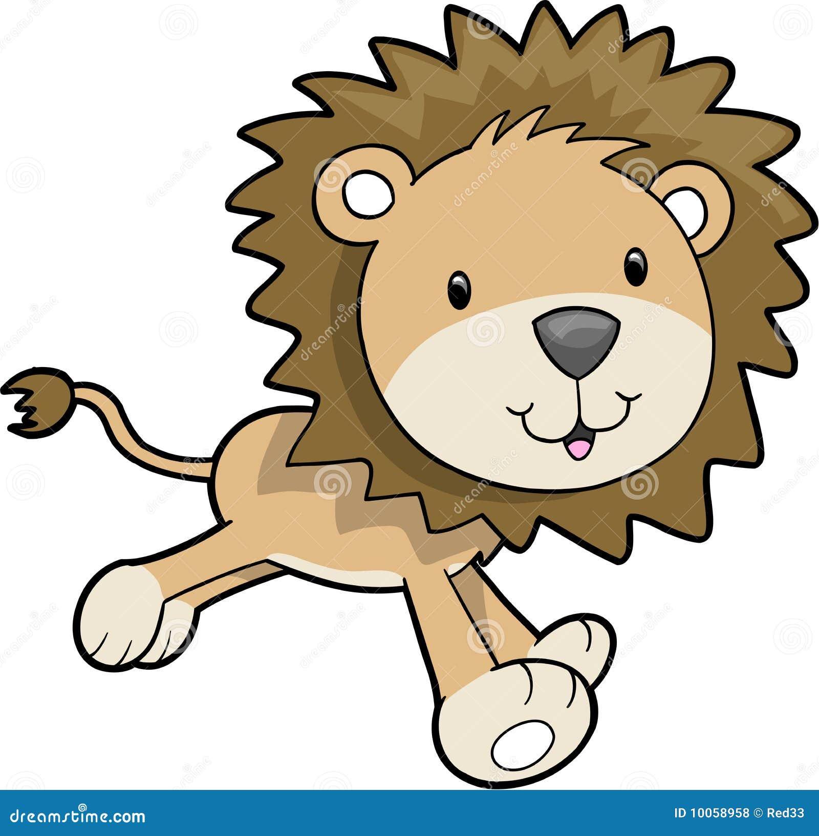 Ilustração do vetor do leão do safari