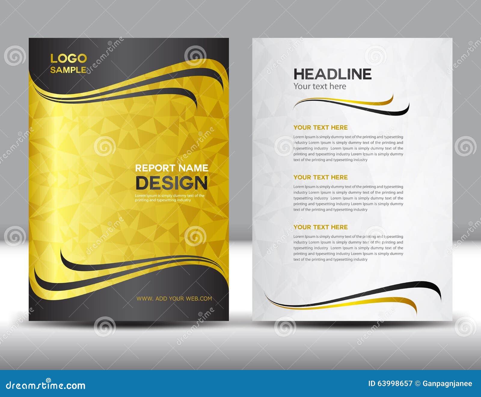 Ilustração do vetor do projeto do informe anual da tampa do ouro