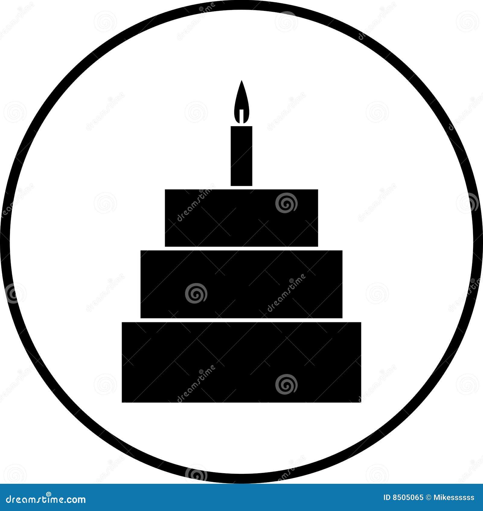 Ilustração do vetor do símbolo do bolo da celebração