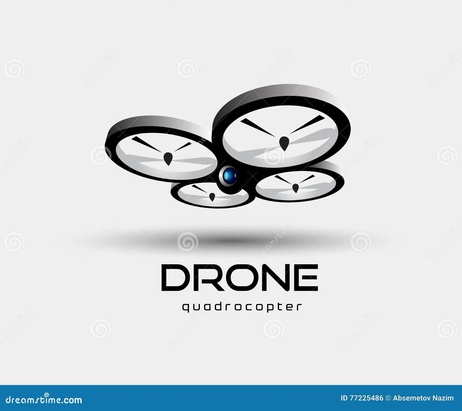 Ilustração do vetor do sumário do quadrocopter do zangão