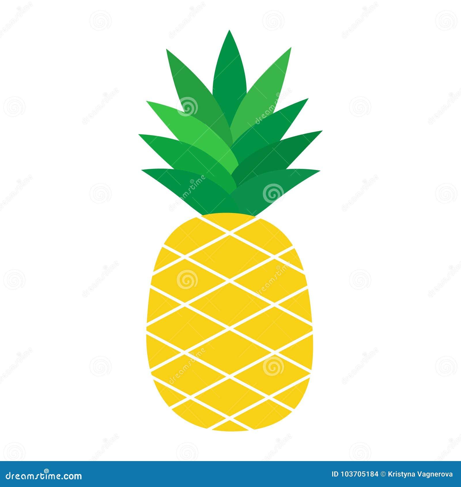 Ilustração do vetor do fruto tropical do abacaxi