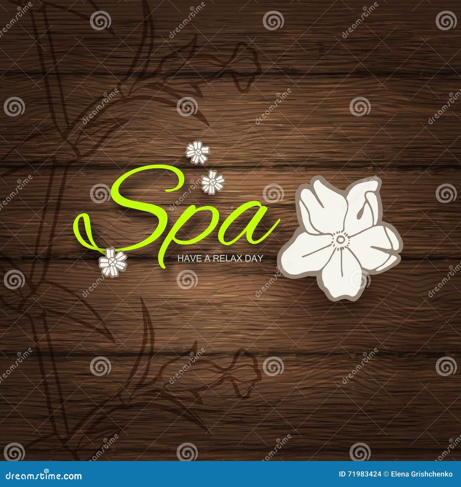 Ilustração do vetor Fundo do negócio do spa resort ou da beleza Projeto de Eco