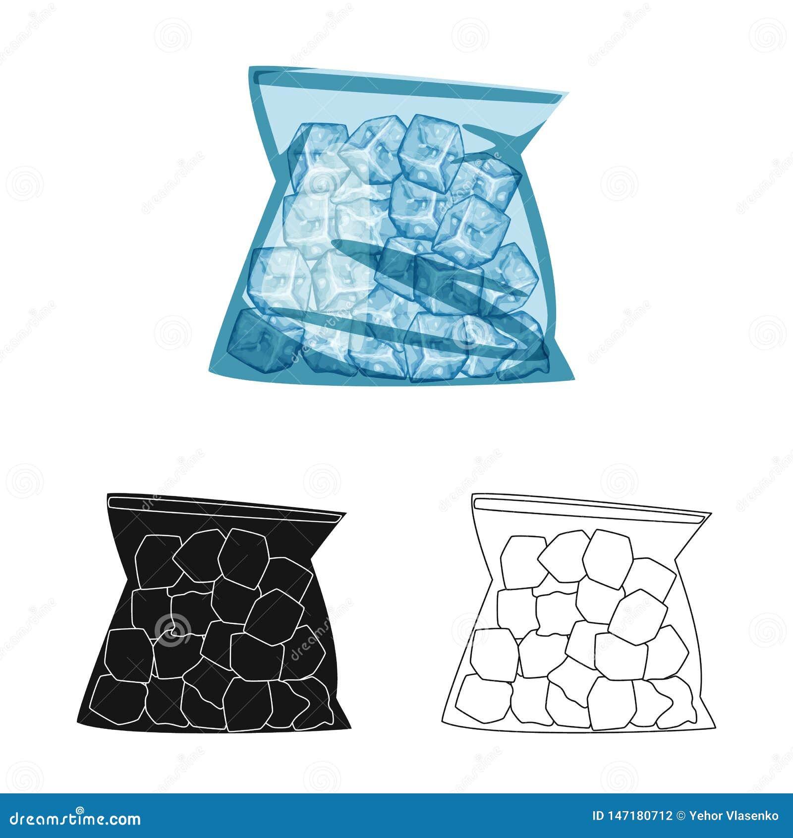 Ilustração do vetor do logotipo do formulário e do gelo Ajuste do ?cone do vetor do formul?rio e do bloco para o estoque