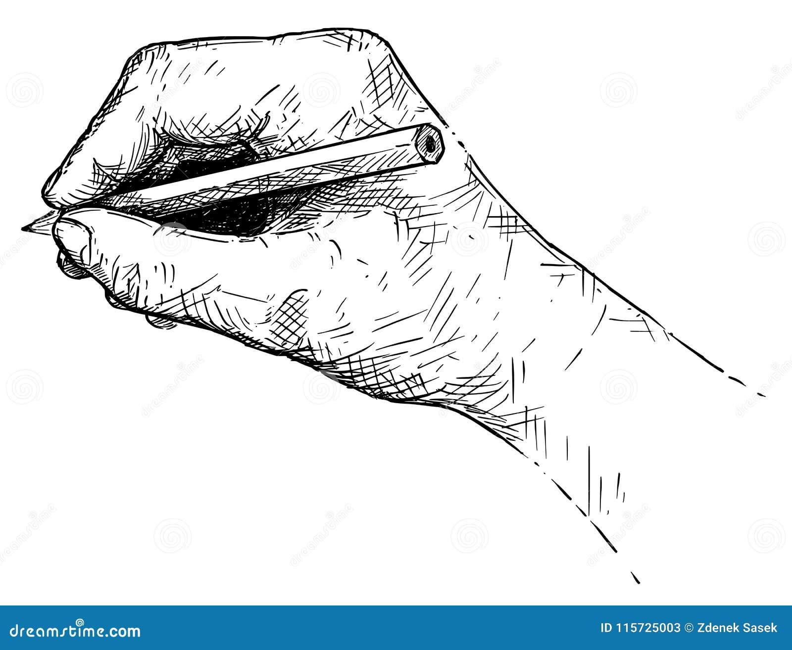Ilustracao Do Vetor Ou Desenho Da Escrita Da Mao Ou Esboco