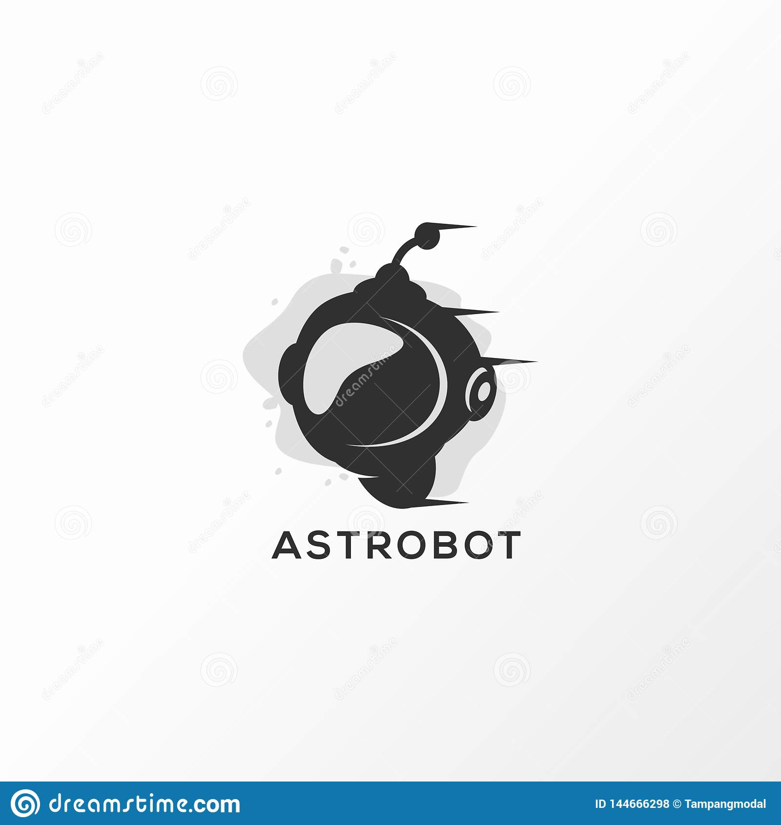 Ilustração do vetor do projeto do logotipo de Astrobot pronto para uso
