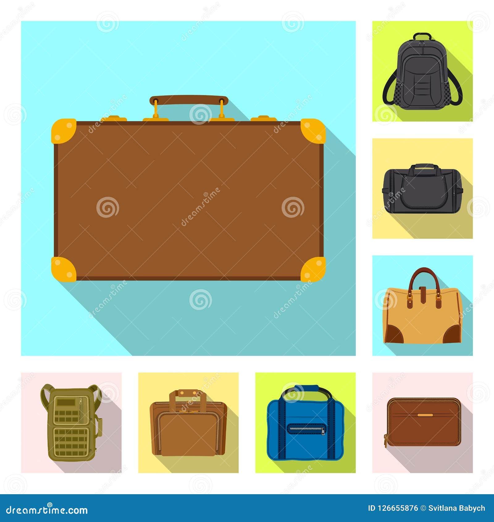 Ilustração do vetor do sinal da mala de viagem e da bagagem Grupo da ilustração conservada em estoque do vetor da mala de viagem  Ilustração Stock