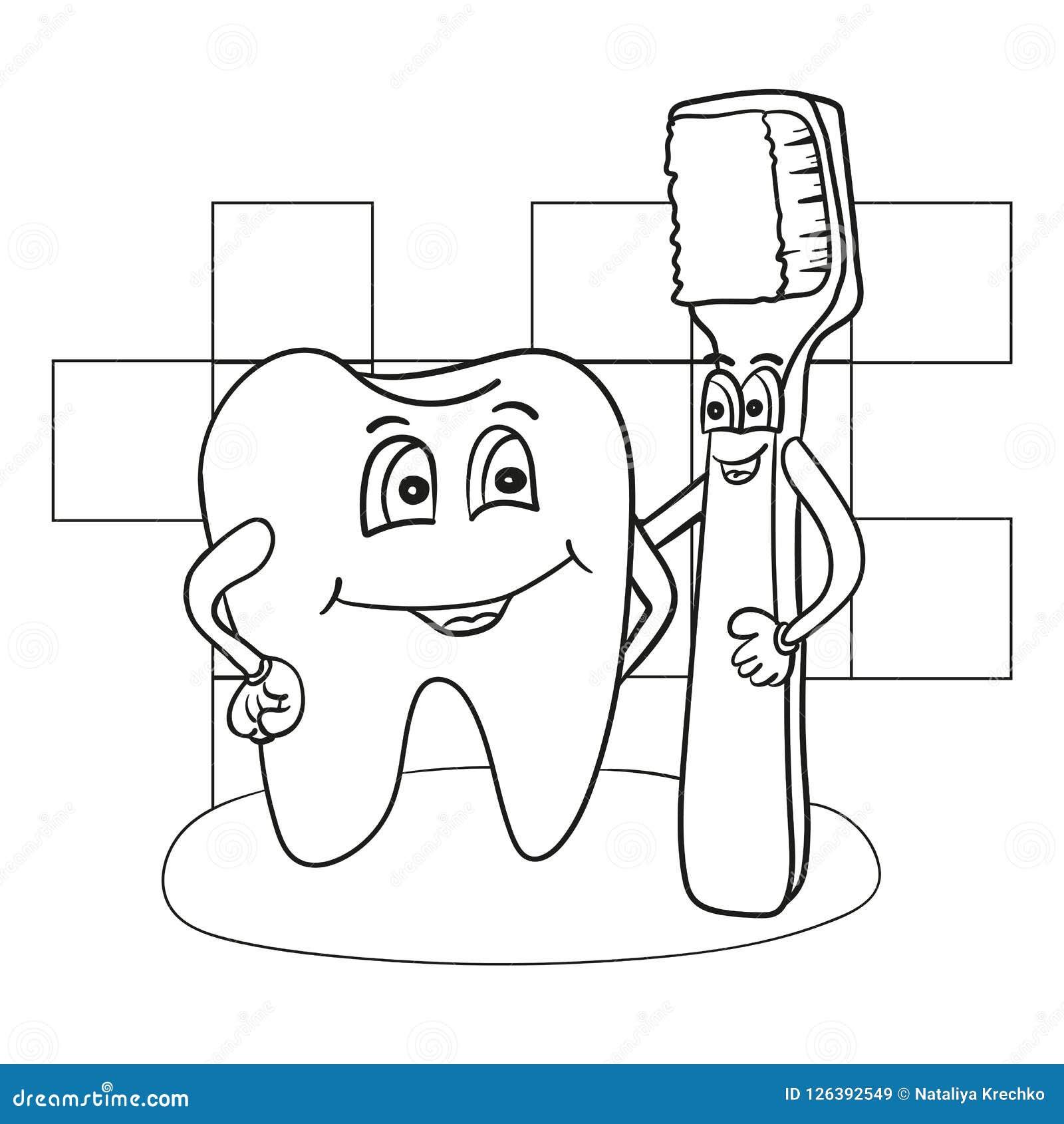 Ilustracao Dos Desenhos Animados Do Carater Feliz Do Dente Com