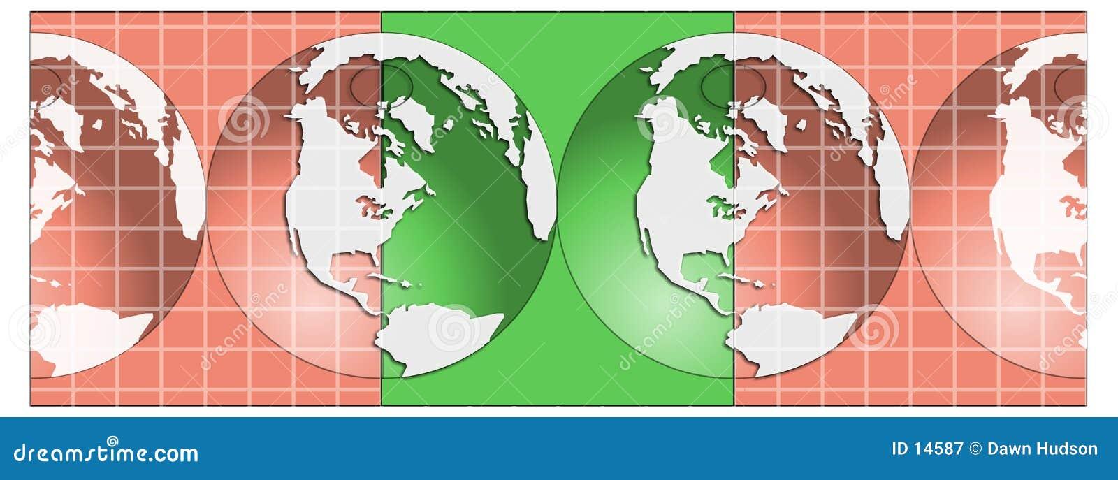 Ilustração dos globos