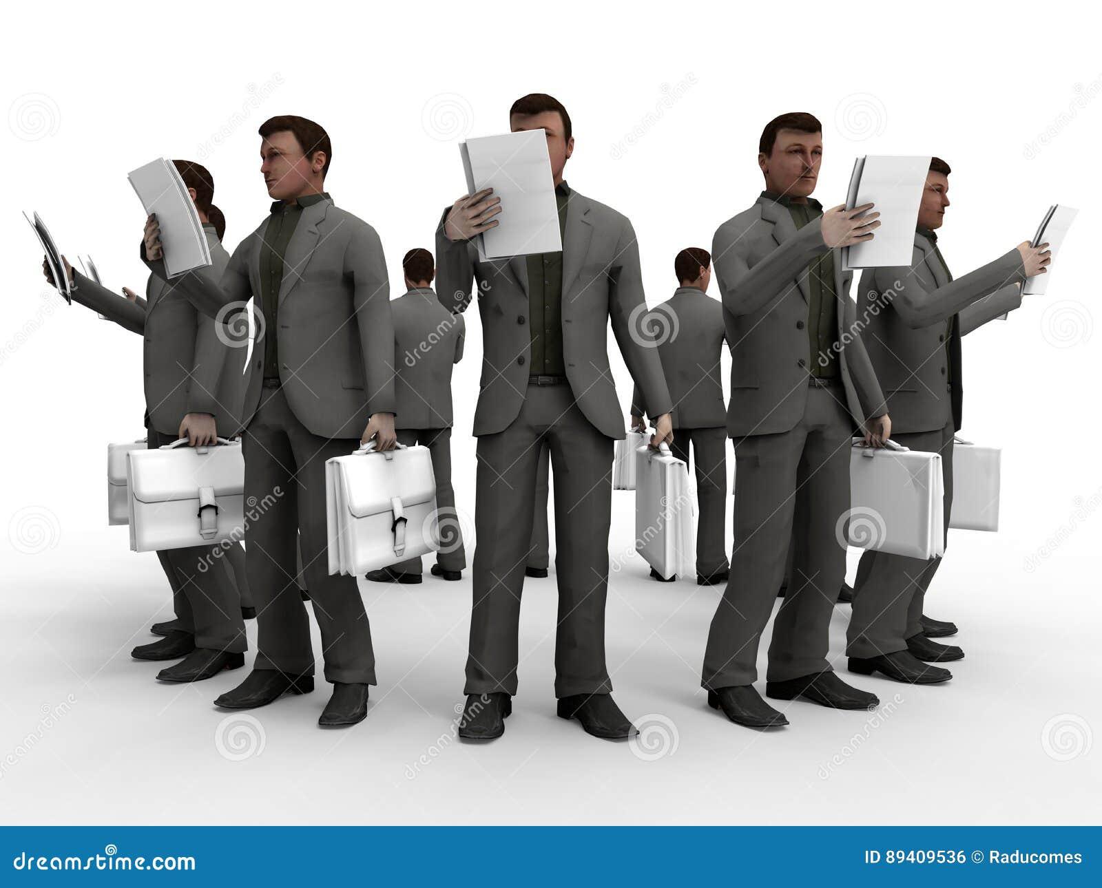 Ilustração dos homens de negócios - disposição circular