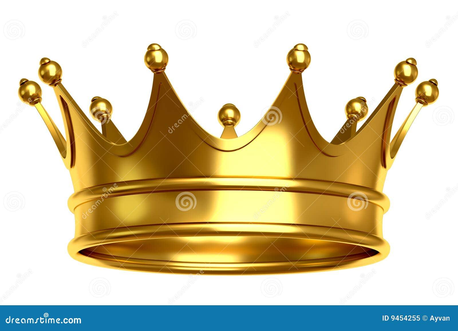 Ilustração dourada da coroa