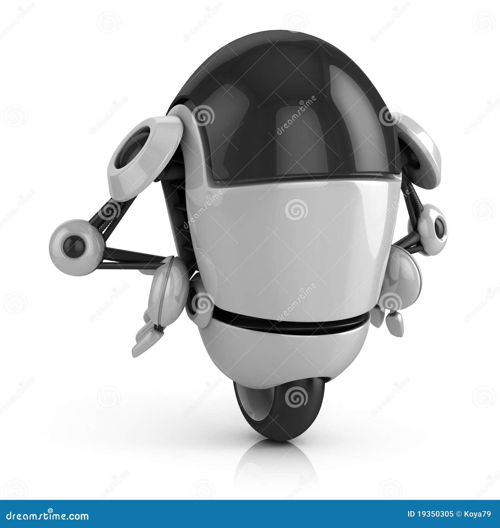 Ilustração engraçada do robô 3d