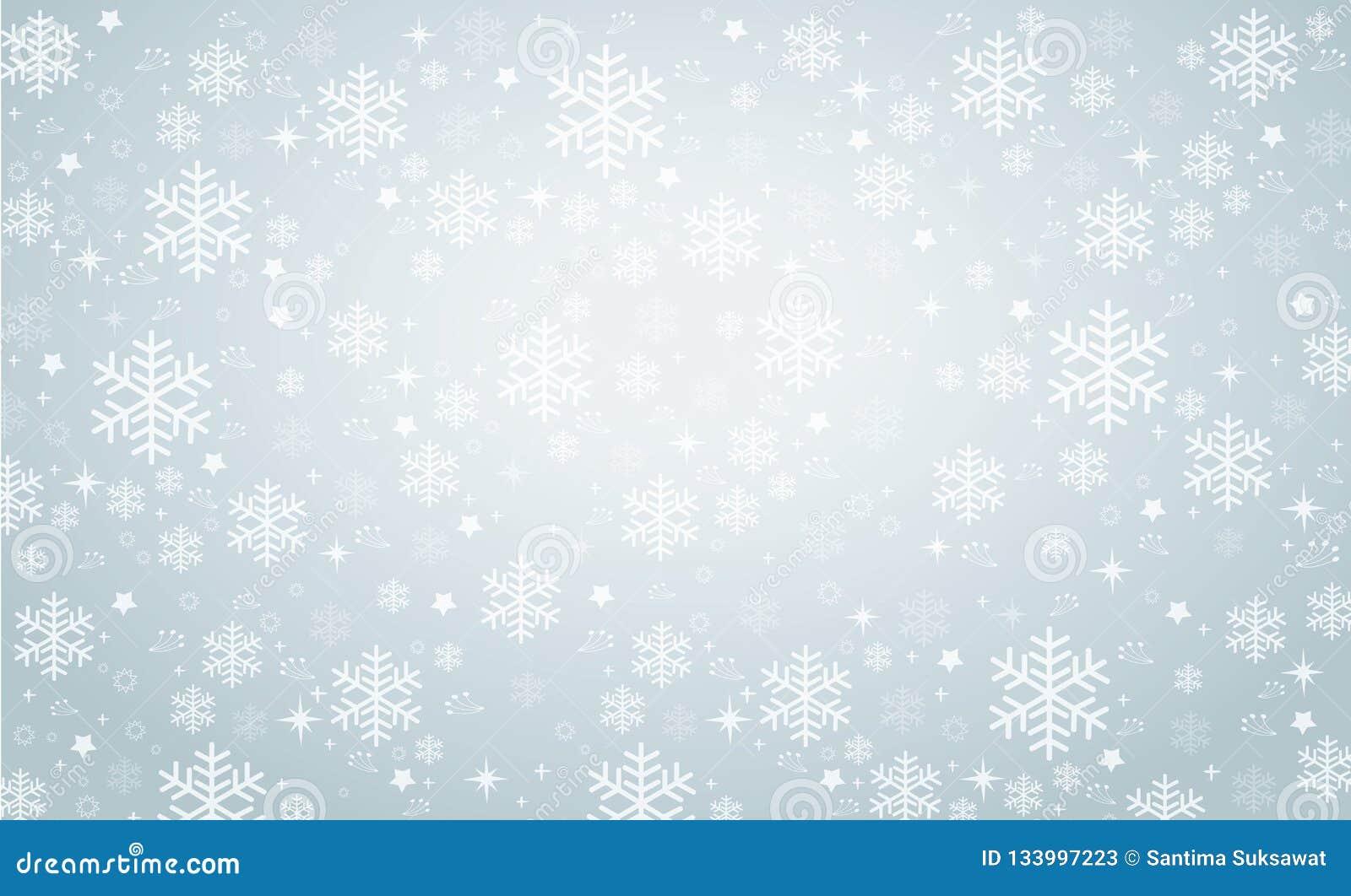 Ilustração eps10 do vetor do fundo da bandeira do inverno do floco de neve