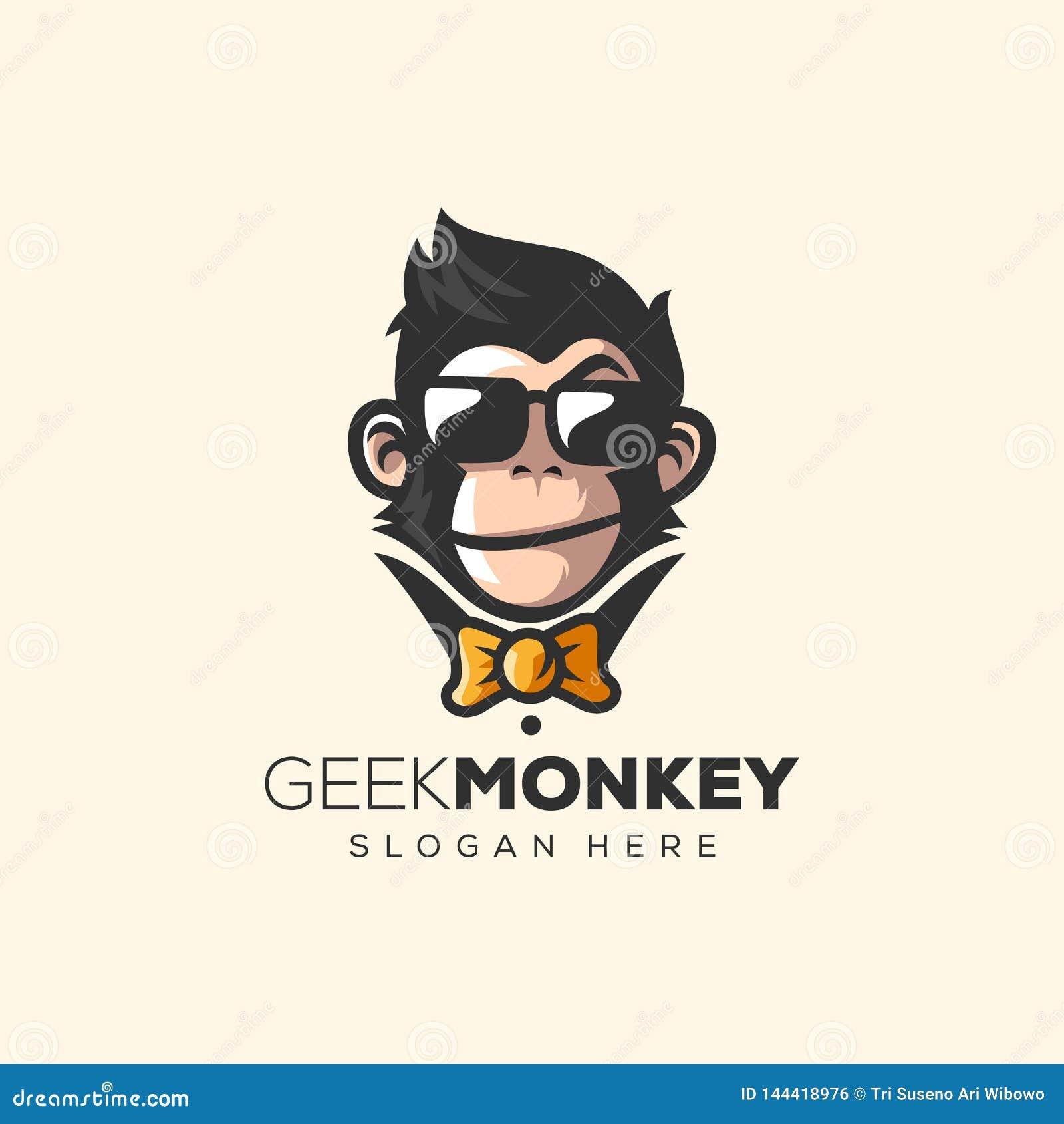 Ilustração impressionante do vetor do logotipo do macaco