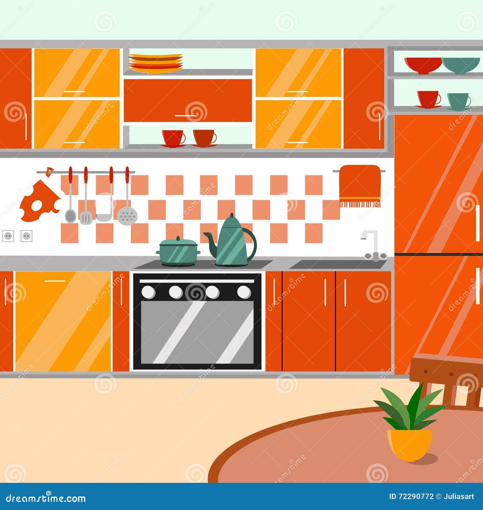 Resultado de imagem para cozinha desenho colorido