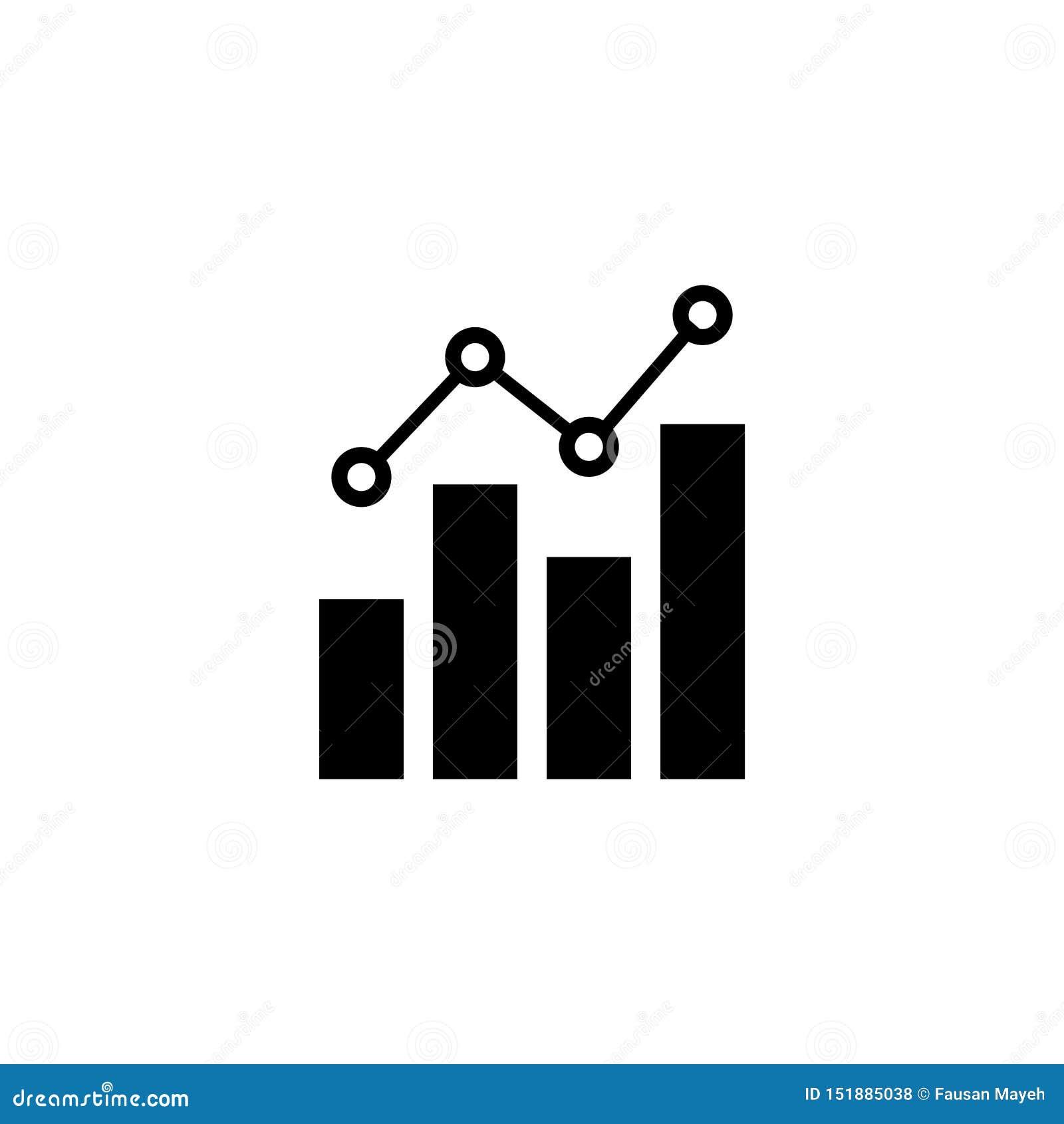 Ilustração isolada negócio do vetor do gráfico
